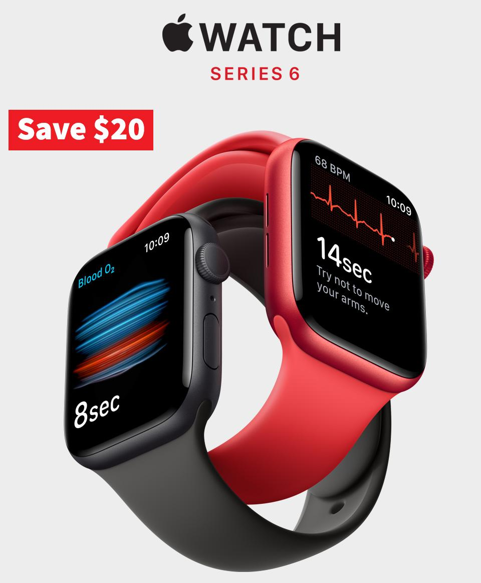 Save $20 on Apple Watch Series 6 and Apple Watch SE