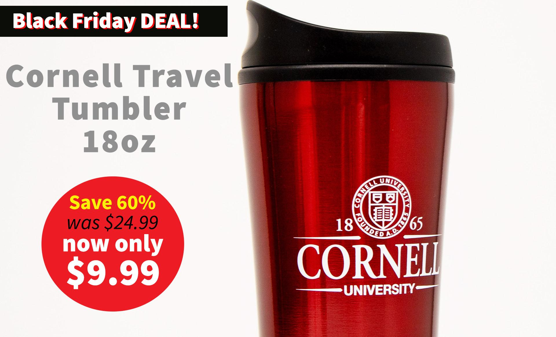 Cornell Travel Tumbler 18ox - Now $9.99