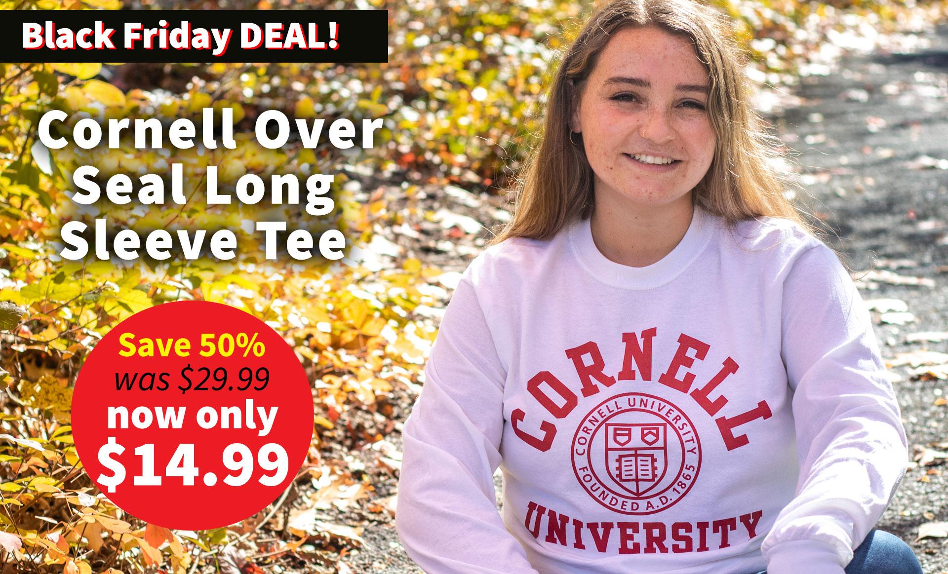 Unisex Cornell Seal Long Sleeve Tee - Now $14.99