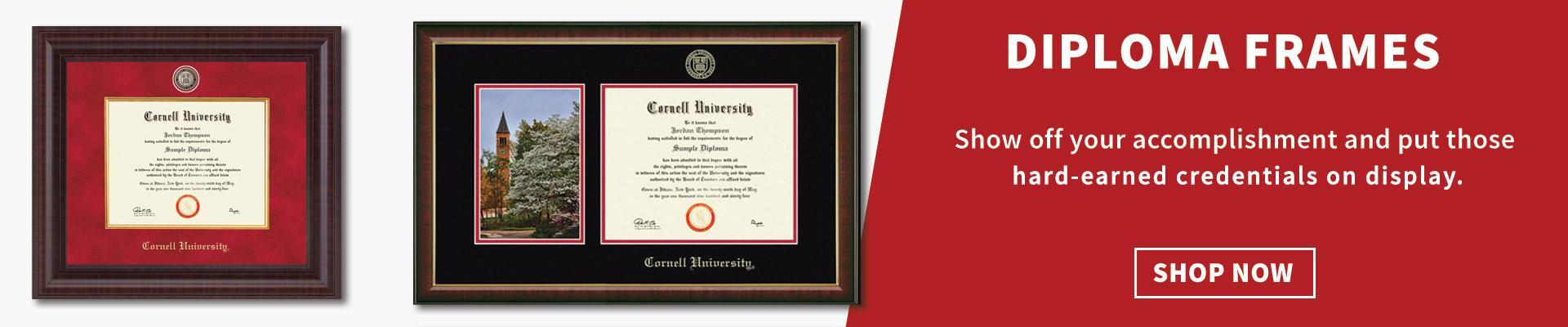 Shop Diploma Frames Now - image of Cornell University diploma frames