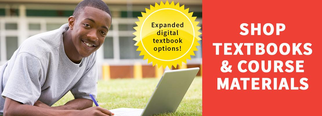 image of student studying - shop textbooks and course materials