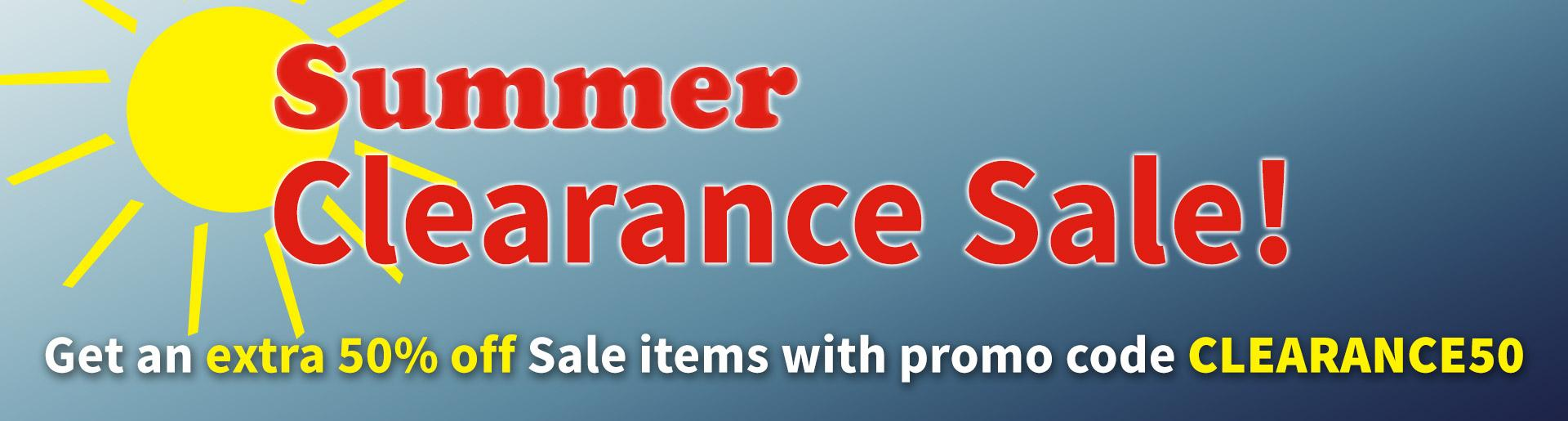 Get an extra 50 percent off Sale items with promo code CLEARANCE50. Valid on items in the Sale category June 22- July 5, 2020.