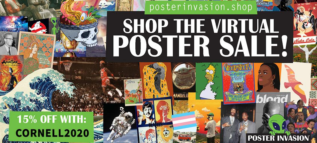 Virtual Poster Sale - Save 15 percent with coupon code CORNELL2020