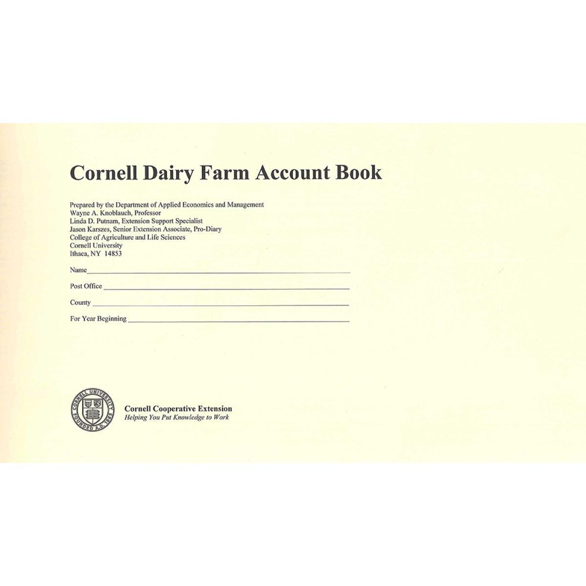 Cornell Dairy Farm Account Cream Cover