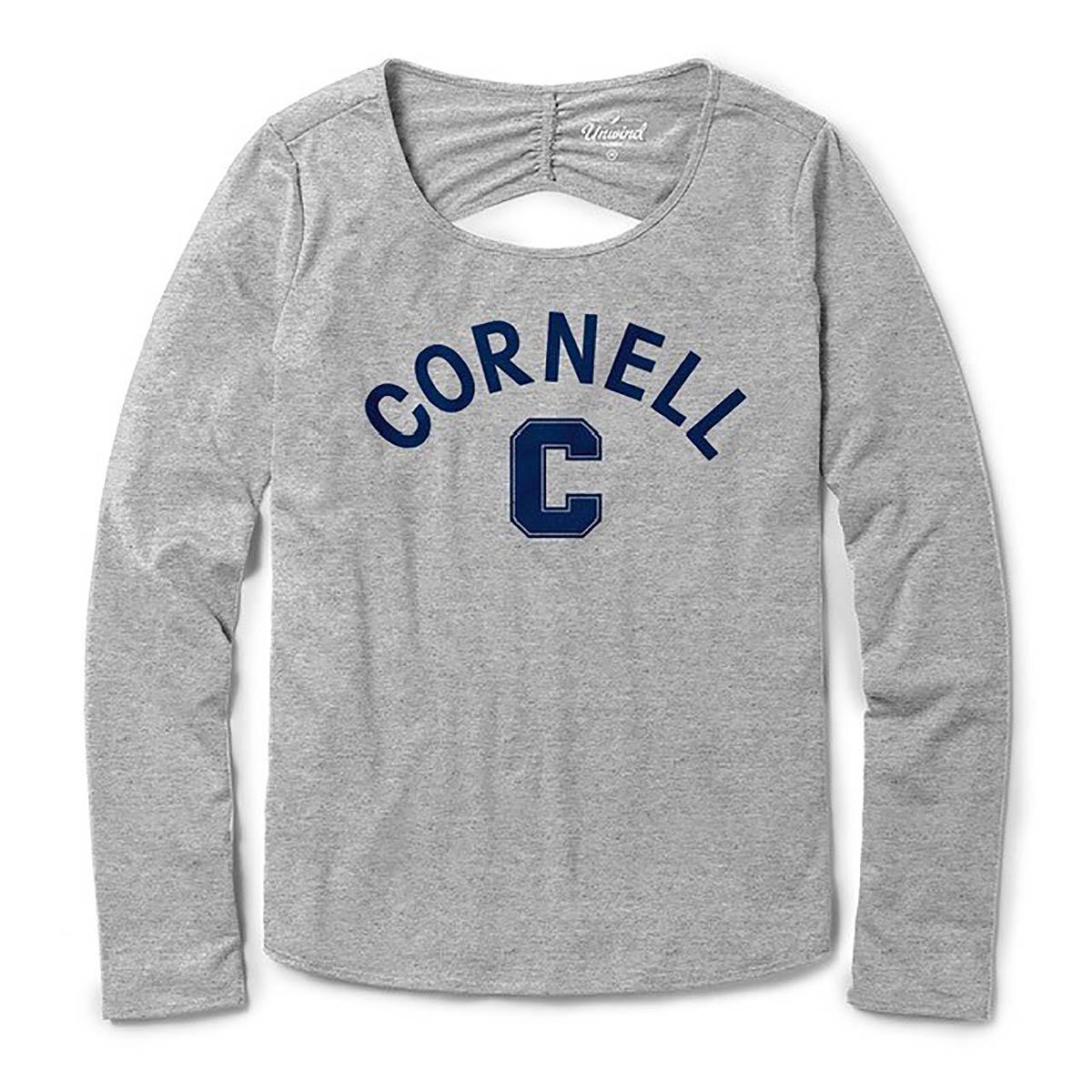 7386d9b3f Women s Cornell Block C Open Back L.S. Tee