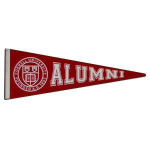 8aa13639 Cornell Alumni Wooden Pennant Magnet