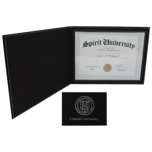 Cornell Seal Engraved Black Certificate Holder