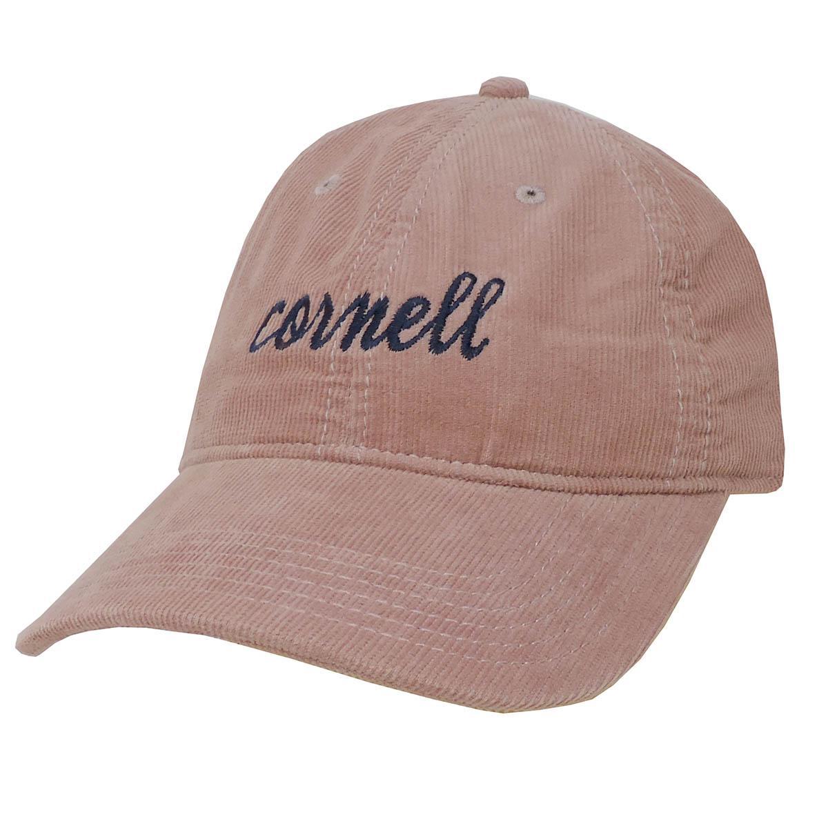 Cornell Script Corduroy Cap Dusty Rose