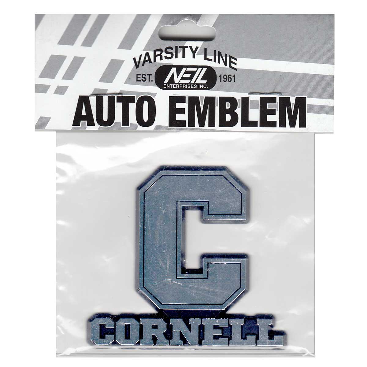 Block C Over Cornell Chrome Car Emblem