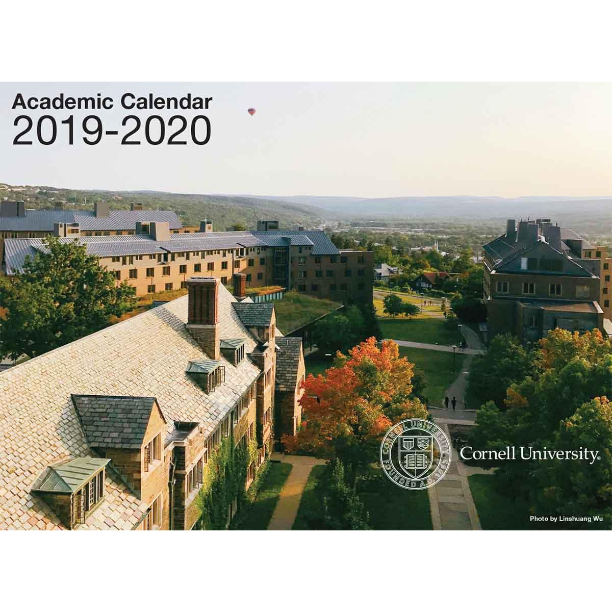 Cornell Academic Calendar 2020 2019   2020 Academic Wall Calendar