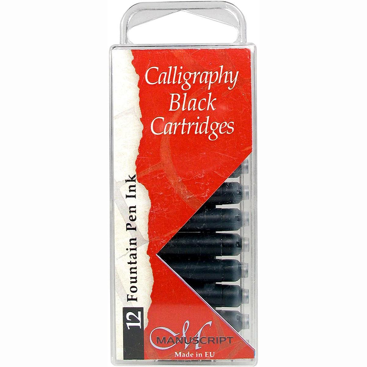 Fountain Pen Ink Cartridges New Black 12-Pack