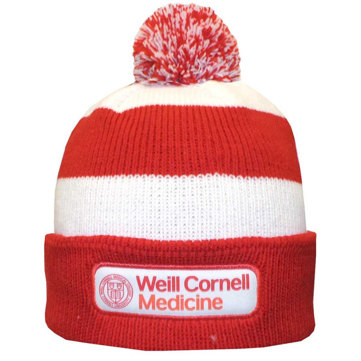 ce1666d483a Weill Cornell Medicine Rugby Knit Hat - Red And White