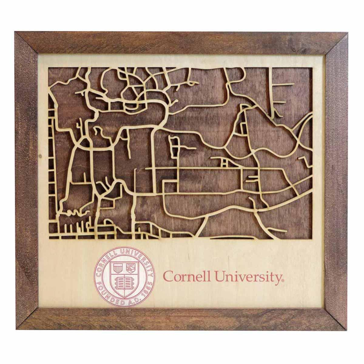Wooden Campus Map Picture