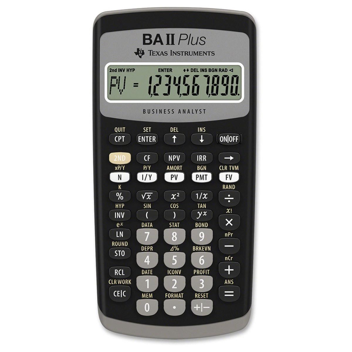 Ti Ba Ii Plus Financial Calculator