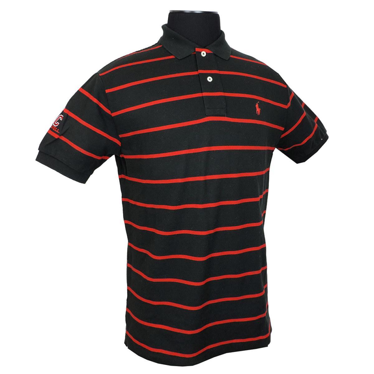 Ralph Lauren - Mesh Polo Shirt - Black W  Red Stripe dc533cc0d0d0