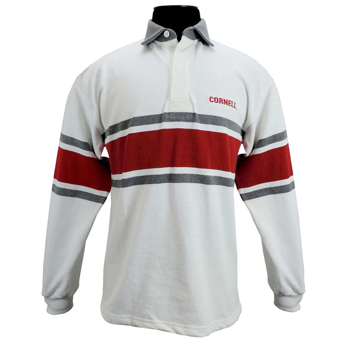 Rugby Shirt Red And Gray Stripes