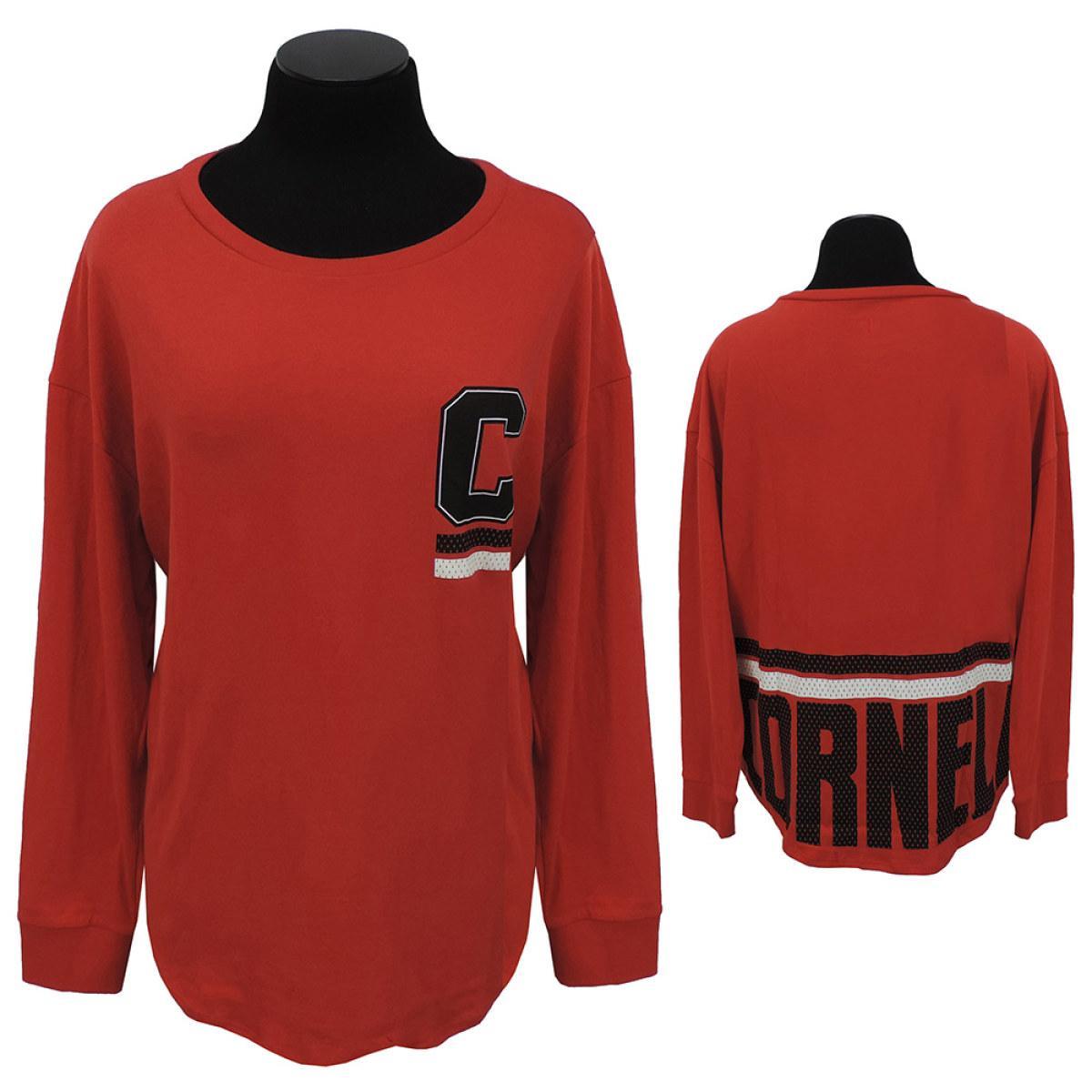 ddb33ec25b54 Women s Long Sleeve Tee - Cornell On Back - Red