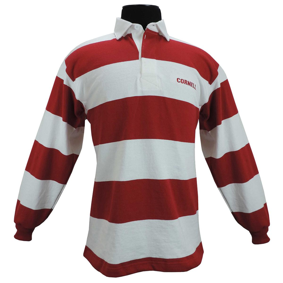 Rugby Shirt Red And White Stripes