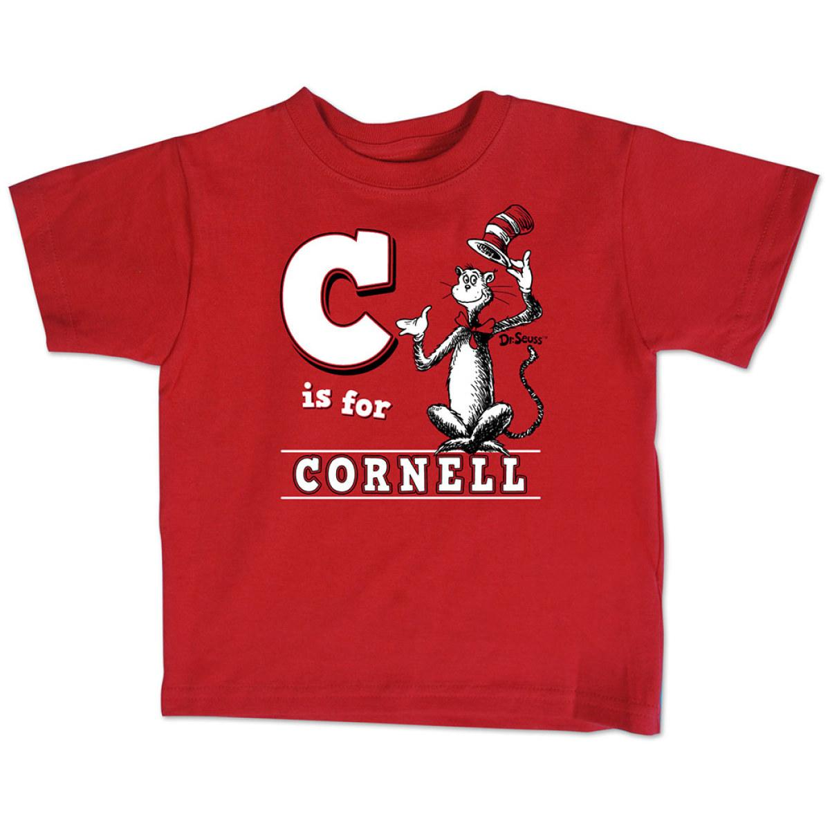 Infant And Toddler Tee Suess C Is For Cornell