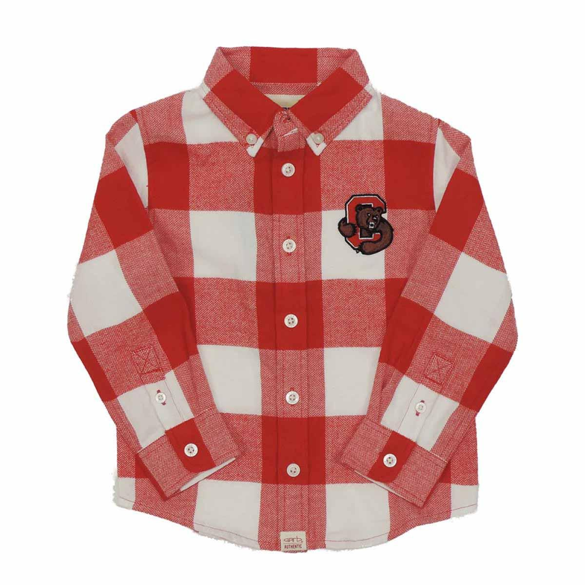 7933bb61 Infant And Toddler Check Flannel Shirt - Red And White